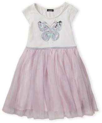Zunie Girls 7-16) Cap Sleeve Butterfly Dress