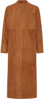 The Row Luri paneled suede coat