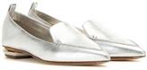 Nicholas Kirkwood Botalatto Metallic Leather Loafers