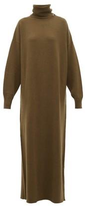 Extreme Cashmere - No.119 Protection Stretch-cashmere Sweater Dress - Womens - Dark Khaki