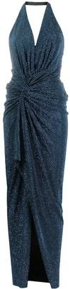 Alexandre Vauthier Stud-Embellished Halterneck Long Dress