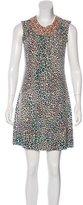 Matthew Williamson Embellished Leopard Print Dress