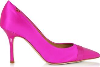 Tory Burch Imperial Pink Penelope 85mm Cap-toe Pumps