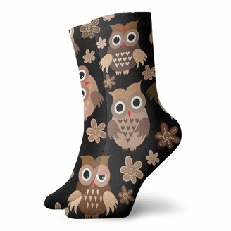 Gfcgfgdrg Cute Owls Unisex Breathable Soft Quarter Socks Short Ankle Socks Women'S Athletic Socks Tennis