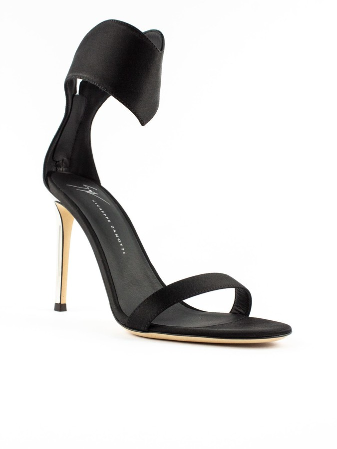 Thumbnail for your product : Giuseppe Zanotti Black Satin Uma Sandals