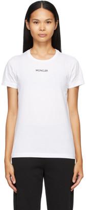Moncler White Logo Type T-Shirt