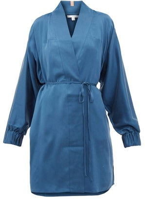 Lunya - Elasticated-cuff Belted Silk Robe - Blue