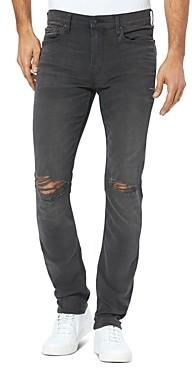 Paige Lennox Slim Fit Jeans in Payne Destructed