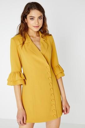 Girls On Film Lipa Button Front Blazer Dress