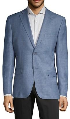 Calvin Klein Slim-Fit Wool Linen-Blend Blazer