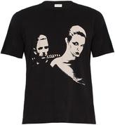 Saint Laurent Couple-print cotton T-shirt