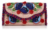 Tory Burch Embroidered Floral Flap Clutch