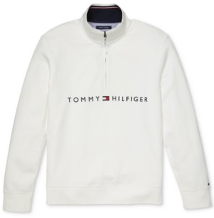 Tommy Hilfiger Adaptive Men's Will Mock Neck Sweater with Extended Half Zipper Pull
