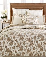 Martha Stewart Sketched Roses Flannel Twin Duvet Cover Bedding Beige A284