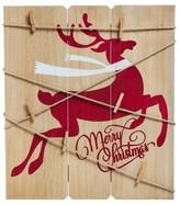 """Evergreen Merry Christmas"""" Deer Card Holder Wall Decor"""