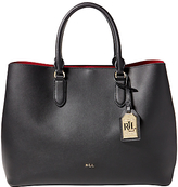Lauren Ralph Lauren Marcy Tote Bag, Black/Crimson