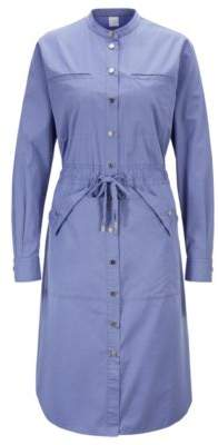BOSS Relaxed-fit shirt dress with drawstring waist