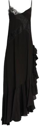 Faith Connexion Silk Lace Panel Ruffle Dress