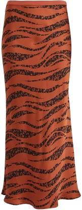 Anine Bing Bar Silk Zebra Skirt