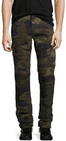 True Religion Rocco Camo-Print Cargo Pants, Green Pattern