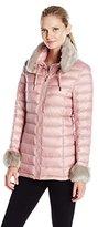 Via Spiga Women's Short Soft Down with Removable Faux Fur Trim