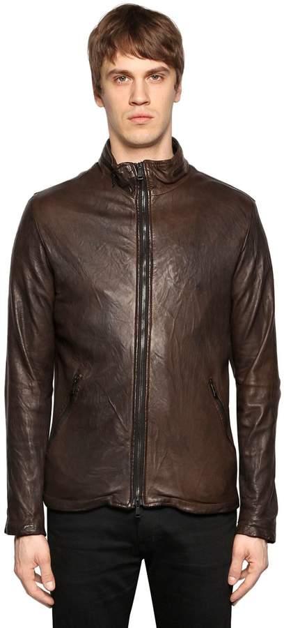 Giorgio Brato Double Zip Smooth Leather Jacket