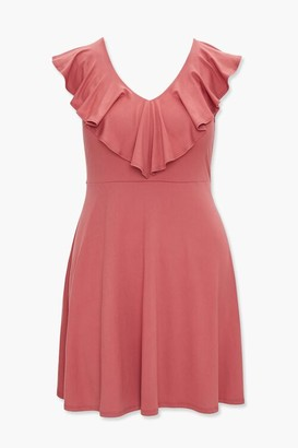 Forever 21 Plus Size Flounce V-Neck Dress