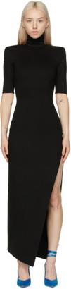 ATTICO Black Eva Midi Dress