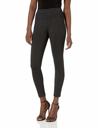 Anne Klein Women's Zipper Detail Seamed Compression Legging