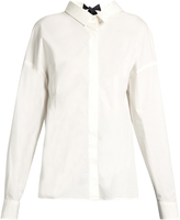 MSGM Open tie-back stretch-cotton top