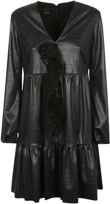 Pinko V-neck Mid-length Laced Detail Dress