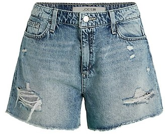 Joe's Jeans High-Rise Distressed Denim Shorts