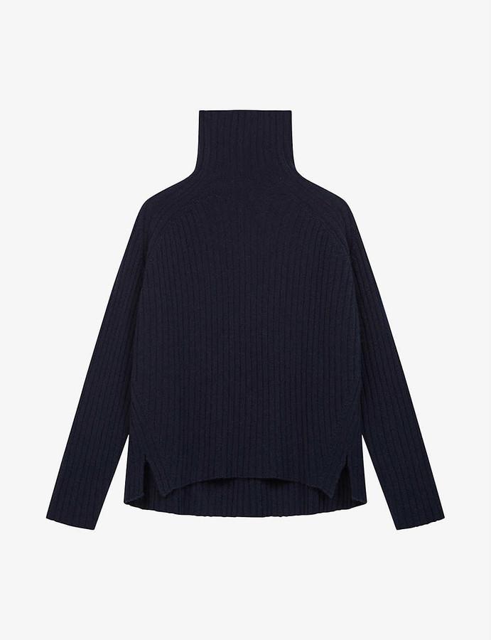 Maje Madinette turtleneck wool-blend jumper