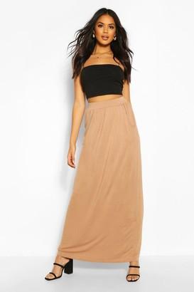 boohoo Basic Pocket Front Jersey Maxi Skirt
