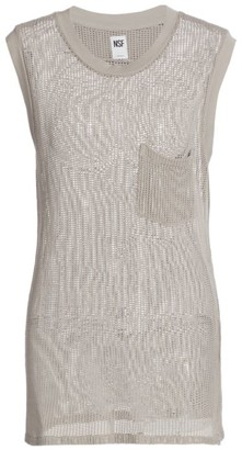 NSF Claire Cotton Mesh Muscle Tee