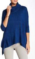 Sweet Romeo 3/4 Length Sleeve Boxy Cowl Neck Sweater