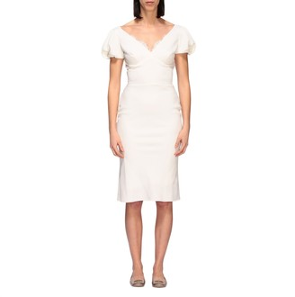 Ermanno Scervino Dress Cady Dress With Lace Details