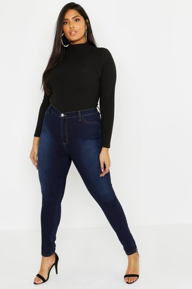 boohoo Plus Super High Waisted Power Stretch Jeans