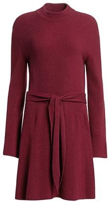 Nanushka Abhaya Ribbed Tie-Waist Sweater Dress