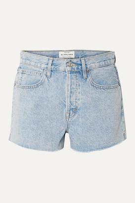 SLVRLAKE Farrah Frayed Denim Shorts - Light denim