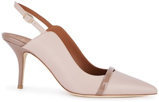 Malone Souliers Marion 70 Blush Slingback Leather Mules