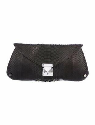 Jessica Grant Python Envelope Clutch Black