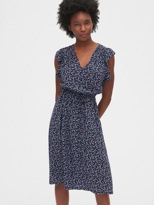 Gap Ruffled Sleeve Midi Dress