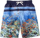 Big Chill Blue Fish Board Shorts - Boys