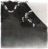 Ermanno Scervino lace trim scarf - women - Modal/Virgin Wool/Silk/Polyamide - One Size