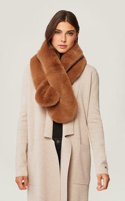 Soia & Kyo TALIANA faux fur pull-through scarf