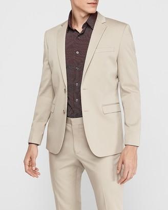 Express Extra Slim Khaki Cotton-Blend Performance Stretch Suit Jacket