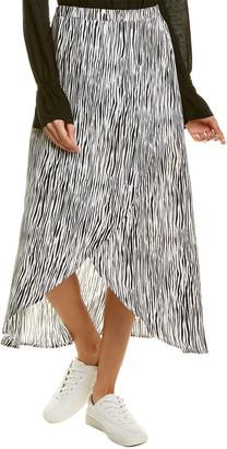Three Dots Zebra Midi Skirt