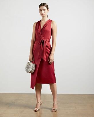 Ted Baker Fixed Wrap Midi Dress