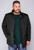 Yours Clothing D555 Black Quilted Jacket